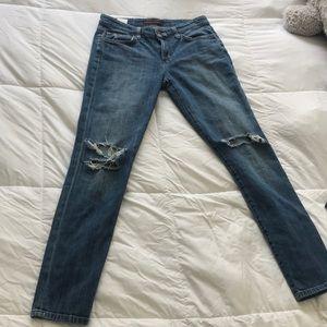 Distressed Joe's jeans